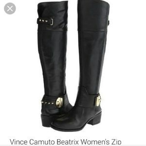 Vince Camuto Beatrix black over the knee boots